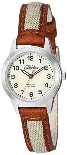 Timex Expedition Metal Field Mini reloj para mujer, Marrón/Verde