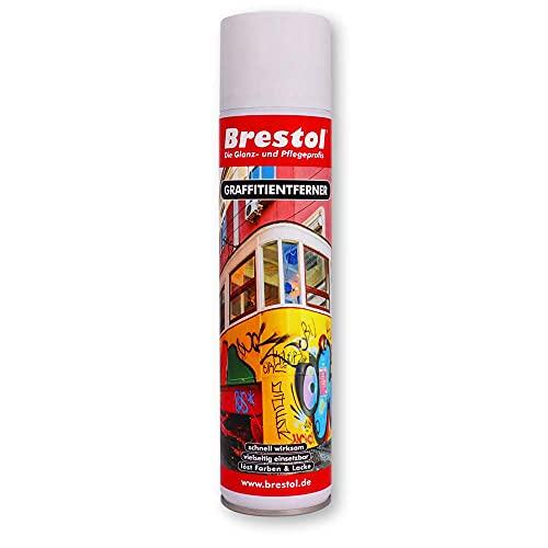 GRAFFITIENTFERNER 400 ml Spray (2445) - Graffitilöser Farbabbeizer Farblöser Farbentferner Lackentferner Lacklöser Lasurlöser Lasurentferner Dispersionsmittel Abbeizmittel Abbeizer - BRESTOL