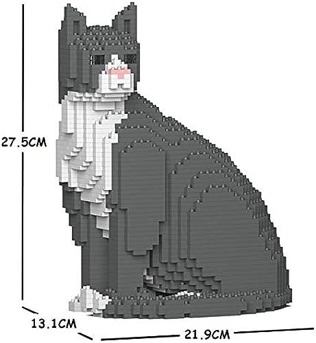 punto de venta JECKA Animal Building Building Building Blocks for Kidults gris Tuxedo Cat 01S  edición limitada en caliente