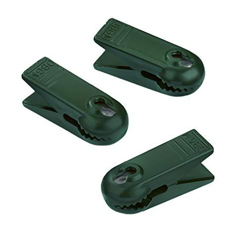 Hellum 983104 Ersatz Klammer/für E10 Kerzen/grün/für Innen- & Außenketten / 3 Stück
