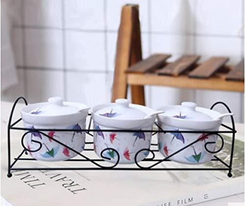 Vasetto Per Condimenti In Porcellana Zuccheriera In Ceramica Casa Cucina Cactus Foglie Vasetti Per Condimenti Al Sale Con Cucchiai