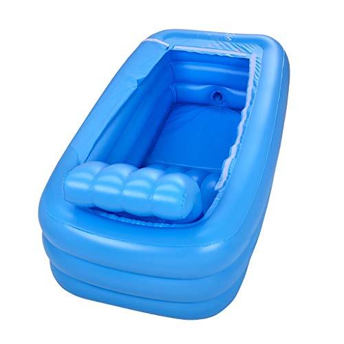 YONGJUN Plastic Draagbare Opvouwbare Badkuip Opblaasbaar Badkuip Badkuip Thuis SPA Bad Equip, 165x85x45cm