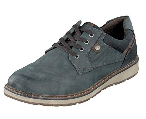 Relife Herren Schuhe Gr.47 Halbschuhe Schnürer Sneaker R3511 Jeans Extra Weite