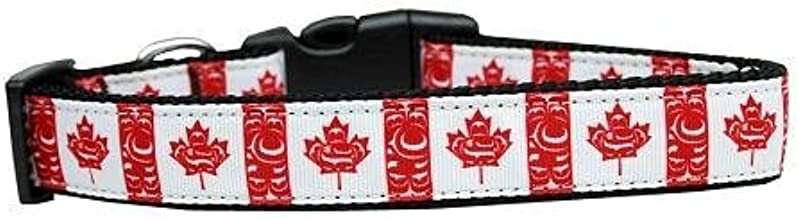 Mirage Pet Products Canadian Flag in Swirls Nylon Dog Collar, Large