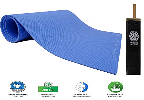 QUICK SHEL Stay Fit and Healthy Yoga Mat for Men and Women, 4 mm, Blue