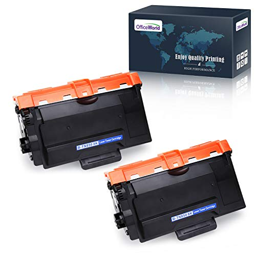 OfficeWorld TN850 Compatible Toner Cartridge Replacement for Brother TN850 TN 850 TN820 (Black, 2 Packs), Compatible with Brother HL-L6200DW HL-L6200DWT HL-L5200DW MFC-L5900DW MFC-L5700DW MFC-L5800DW