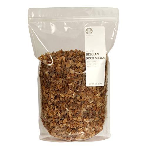 The Sugar Lab Belgian Brown Rock Sugar – 5 Pounds - All Natural Non GMO REAL German Beet Sugar Rock...