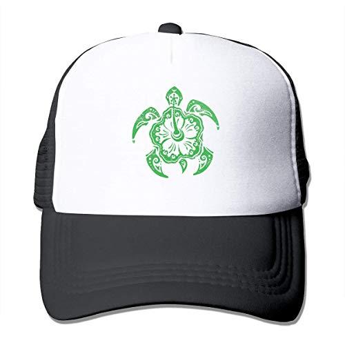 Voxpkrs Hawaiian Tribal Turtle Unisex Grid Hat Baseball Cap Trucker Cap Adjustable Hat Cool9151