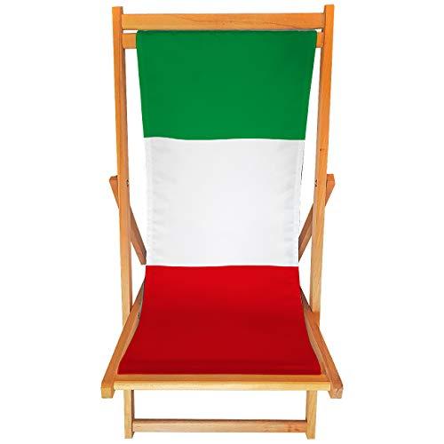 My Custom Style Chaise longue artisanale en bois #Andrà Tutto Bene# Full Print Bandiera Italia