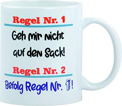 Redprice GmbH GEH Mir Nicht auf den Sack! Tasse NEU Bedruckte Tassen Sprüche Spülmaschinenfest Fototasse