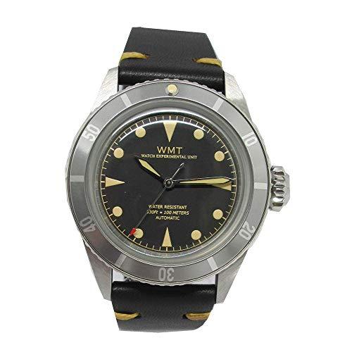 Walter Mitt Sea Diver Edelstahl 316L Automatik Miyota Schwarz Leder Unisex Uhr