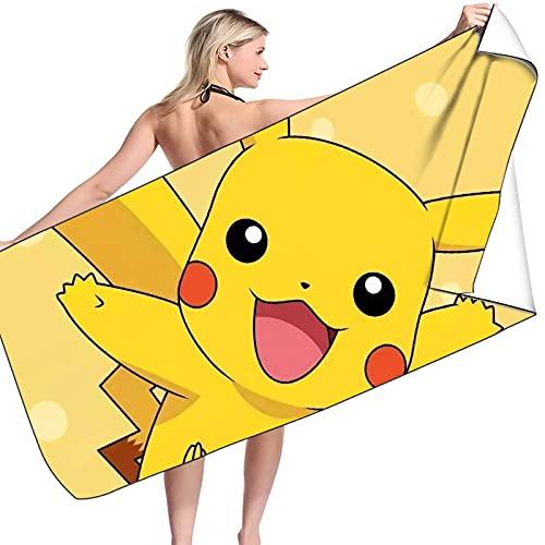 UNILIFE Toalla de Playa Toalla Playa Pikachu Toallas de Baño Pokémon Toalla de Piscina Altamente Absorbente Impreso de Alta Definición Sin Arena 2 Tamaños ⭐