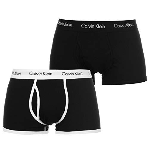 Calvin Klein -2calzoncillos tipo bóxer, ajuste cómodo, ropa interior blanco Black/black Large