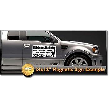 Amazon Com 24x12 Custom Magnetic Signs Set Of 2 2 Color Car
