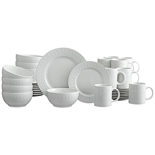 Pfaltzgraff Sylvia Dinnerware Set, 32 Piece, White