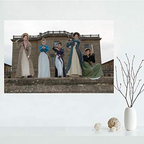 NOVELOVE Orgueil et préjugés et Zombies Movie Poster HD Imprime Toile Peinture Bureau Bar Mural Art Photos décoration Murale (40 * 60 cm) sans Cadre