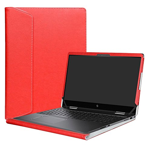 Alapmk Specialmente Progettato PU Custodia Protettiva in Pelle Per 15.6' HP Envy x360 15 15-bpXXX 15m-bpXXX/15m-bqXXX 15-bqXXX Series Notebook,Rosso