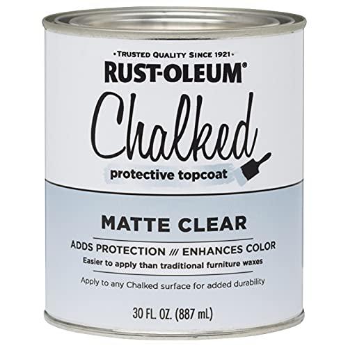 Rust-Oleum 287722 Ultra Matte Interior Chalked Paint, 30 oz, Matte Clear Topcoat