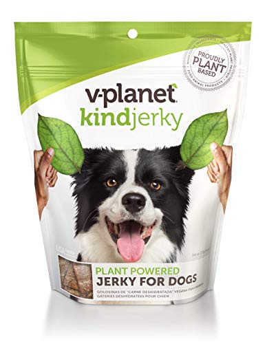 V-Planet Vegan Jerky Dog Treats, 6 Ounce, Soft and Chewy with Plant Based Protein and Superfoods by v-dog