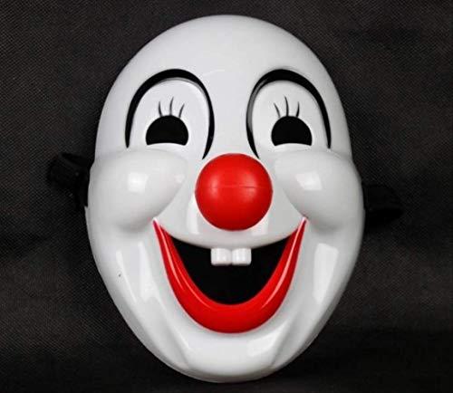 DFLMBV Máscara de Payaso de Nariz roja Máscara de Maquillaje de Halloween Baile de PVC Duro
