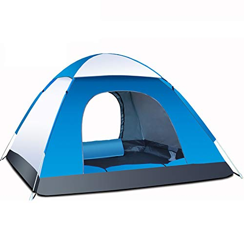 HGFDSA Outdoor Camping Tents Portable Waterproof Tent Anti-uv 3/4person Folding Pop Up Open Sun Shade Tent for Camping Picnic Tra,White