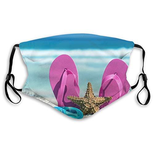 Flip Flops Starfish Beach Summer Face Custom Reusable Half Buff Face Mask Funny Cute Balaclava Bandana Cloth Warmer