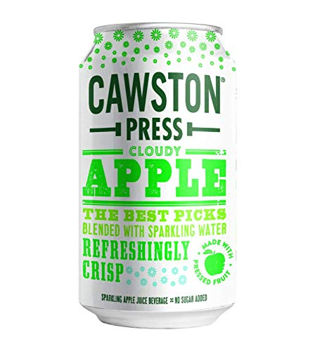 Cawston Press Sparkling Cloudy Apple Juice, 11.15 Ounce Cans (Pack of 24)