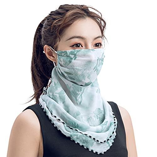 Pumprout Été Anti-UV Crème Solaire Écharpe Grand Masque Bouche Protection du Cou Mince Respirant Masques Visage Intégral