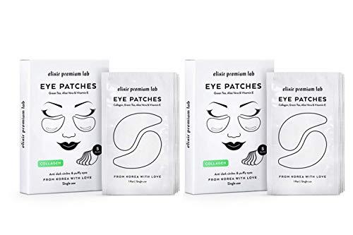Collagen Eye Patches - Moisturizing Under Eye Pads - Anti Puffines & Dark Circles Spa Treatment - Best Hydrogel Eye Moisturizer for Women & Men - Gel Patch for Dry Skin Under Eye Zone (2 pack)