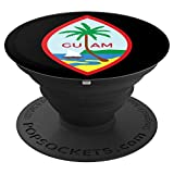 Guam Country Seal PopSockets Grip and Stand for Phones and Tablets