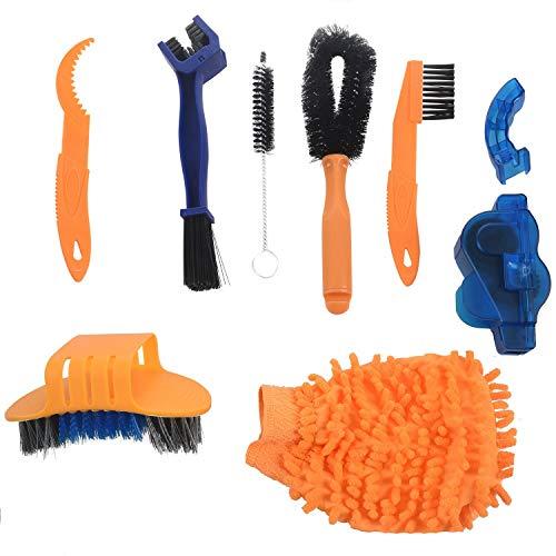 Iycorish Juego de 8 piezas de limpieza profesional de mantenimiento para bicicleta,...