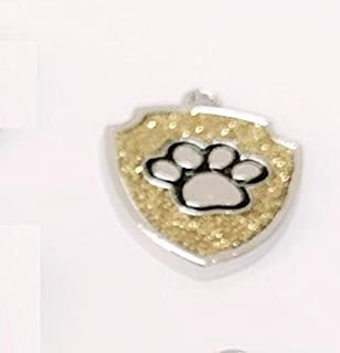 Polykor Useful Shield-Shaped Dog Paw Pattern Pet Necklace Accessories Dog Tag(Golden