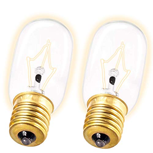 Light Bulb Fits for LG Microwave Oven - Microwave Light Bulb for LG Frigidaire Kenmore Whirlpool GE Over the Range Microwave, Dimmable with 125V 30W E17 Base, Kitchen Night Light, Repalces 6912W1Z004B