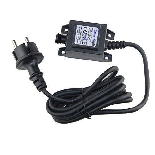 VBLED® 12W Netzteil/Trafo/Transformator 12V AC wassergeschützt IP67 für aussen/außen Input 230V Output 12V Anschluss IP44 1,9 m Kabel für LED-Beleuchtung und Teichpumpen (Max. 12W)