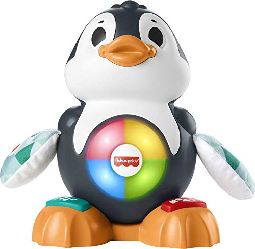 Fisher-Price Linkimals Cool Beats Penguin, musical infant toy with lights, motions, and educational songs for infants and toddlers