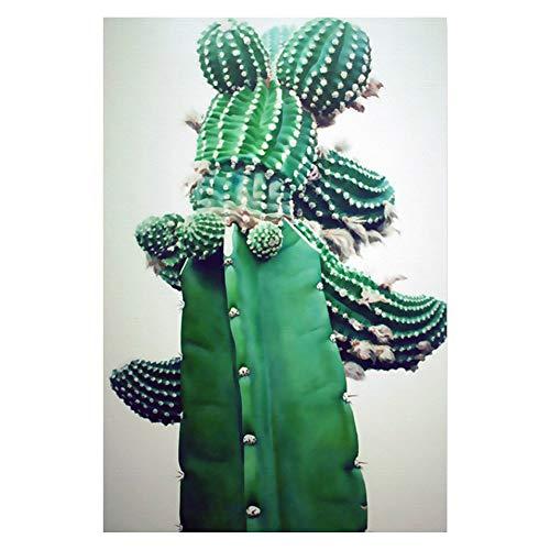 bdrsjdsb Nordic Kaktus Pflanze Leinwand Ungerahmt Malerei Poster Wandkunst Bild Wohnzimmer Dekor 3# 21 * 30 cm