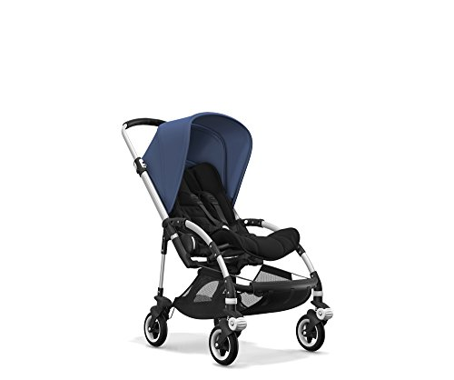 Bugaboo Bee5 Complete Stroller, Black/Sky Blue - Compact, Foldable Stroller for Travel and Urban Life. Easy to Steer on City Streets & Tight Turns! The Most Popular Lightweight Stroller!