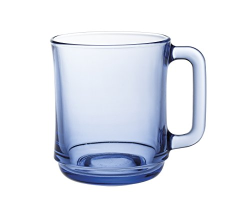 Duralex Lote 6 Tazas Vidrio LYS 8 cm, Azul Marino