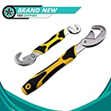 2Pcs Universal Multi-function Wrench Spanner, Quick Snap N Grip Adjustable Wrench Spanner Tool Set