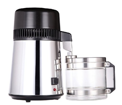 LifeEnergy Water Home Distiller, all stainless steel and glass