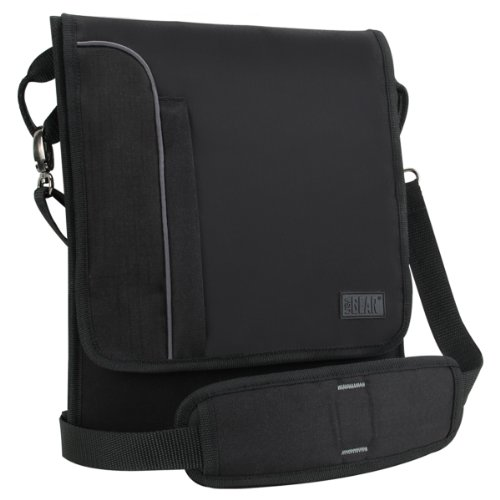 USA Gear Tablet Umhängetasche, passend für alle Tablets mit 7 Zoll & bis zu 10 Zoll, Neopren, Schwarz