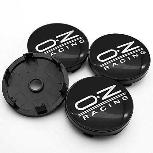QUXING 4 Piezas Tapas Centro Tapacubos, para OZ Racing 60mm Rueda Emblema Logo Insignia Llantas centrales Emblema Accesorios