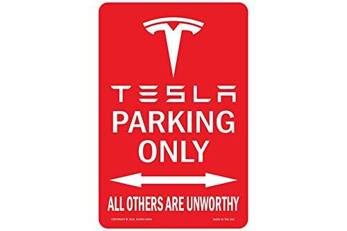Sp567encer Tesla Parking Unworthy, Metallschild