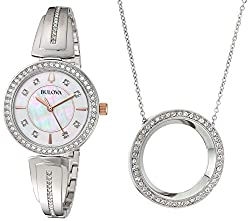 Stainless Steel Crystal Boxed Set with Circle Necklace (Model 98X121)