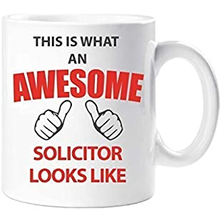 This Is What An Awesome Solicitor Looks Like Mug Present Gift Cup Birthday Christmas