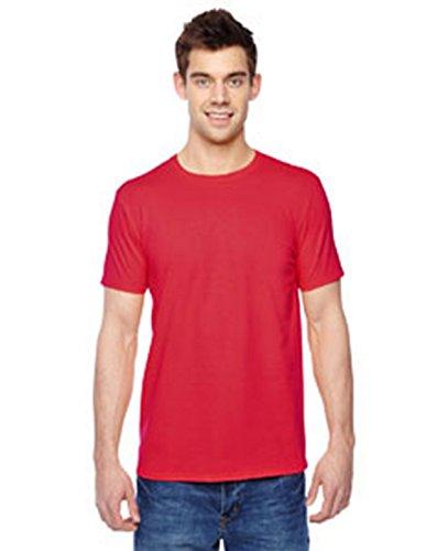 Fruit of the Loom Premium Tee Single, Camiseta manga corta para Hombre, Rojo (Red), Small