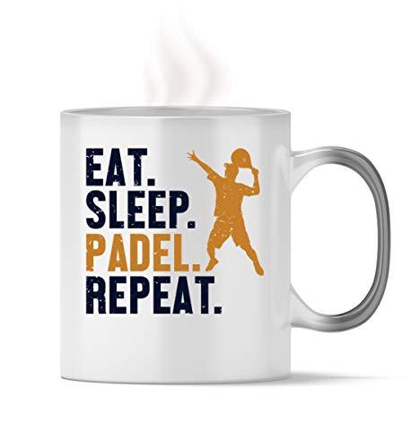 Padel Tennis - Taza mágica de Padel Tennis | Eat Sleep Padel Repeat