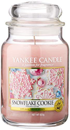 Yankee Candle Candela Grande Vaso, Biscotto del Fiocco di Neve