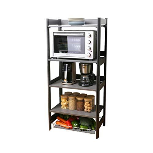 Kitchen furniture - Type de plancher de cuisine multifonctionnel de plancher Étagère de support de stockage multicouche en aluminium WXP (taille : Five floors)