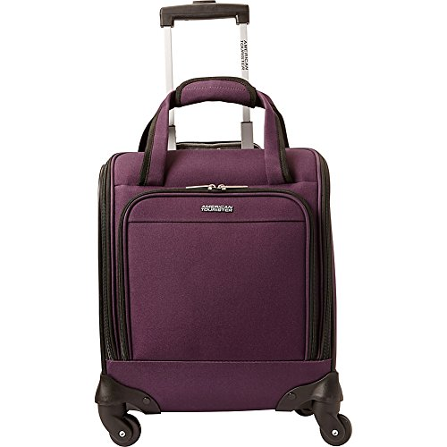 American Tourister Lynnwood 16 Inch Underseat Spinner Carry-On Luggage With Wheels - (Eggplant) American Tourister Mesh Carry On